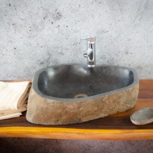 Lavabo River Megalític (imagen real)  55x43cm piezas únicas | mirococo.com