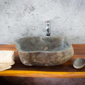 Lavabo River Megalític (imagen real)  52x36cm piezas únicas | mirococo.com