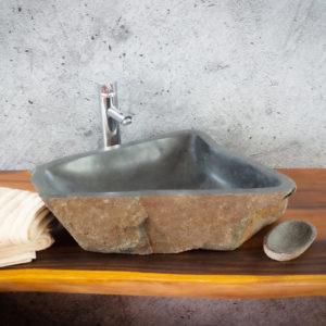 Lavabo River Megalític (imagen real)  60x39cm piezas únicas | mirococo.com