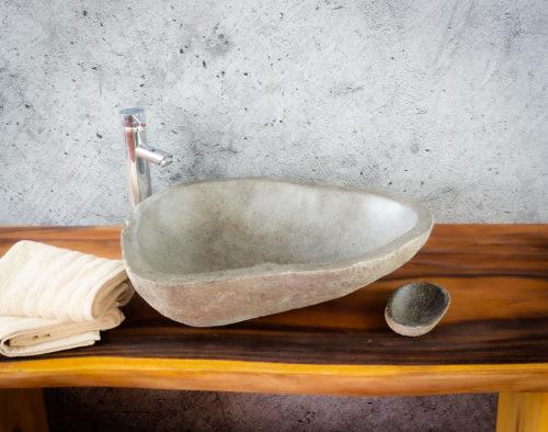 Lavabo River Megalític (imagen real)  55x45cm piezas únicas | mirococo.com