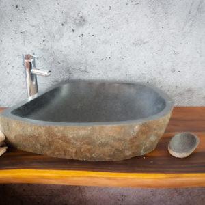 Lavabos de piedra de rio