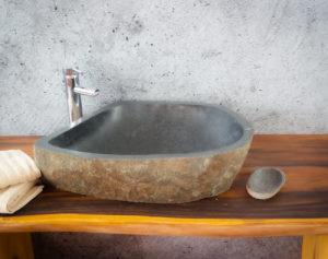 Lavabo River Megalític (imagen real)  65x45cm piezas únicas | mirococo.com