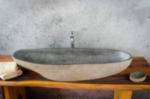 Lavabo River Megalític (imagen real)  108x40cm piezas únicas | mirococo.com