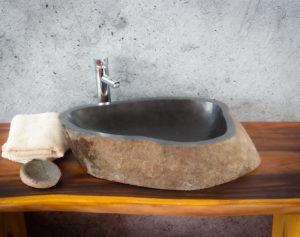 Lavabo River Megalític (imagen real)  66x40cm piezas únicas | mirococo.com