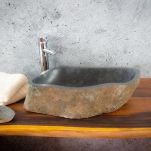 Lavabo River Megalític (imagen real)  59x27cm piezas únicas | mirococo.com
