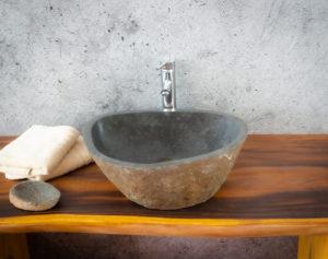 Lavabo River Megalític (imagen real)  52x45cm piezas únicas | mirococo.com