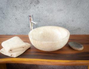 Lavabo de ónyx tipo cuenco redondo (Imágenes reales). Medida 40x40x15cm