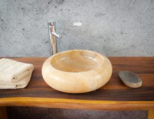 Lavabo de ónyx tipo redondo (Imágenes reales) 40x40cm | mirococo.com