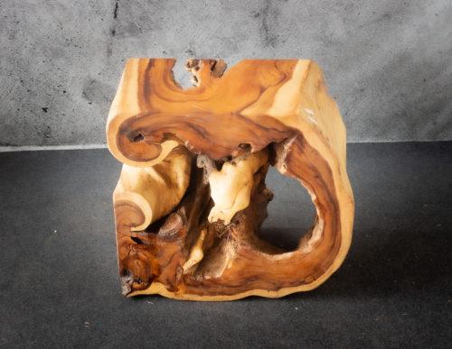 Consola decorativa de madera maciza de suar