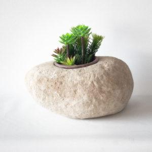 Bol, macetero de piedra natural