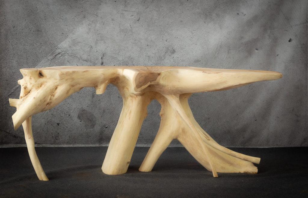 Consola rústica de madera de Suar