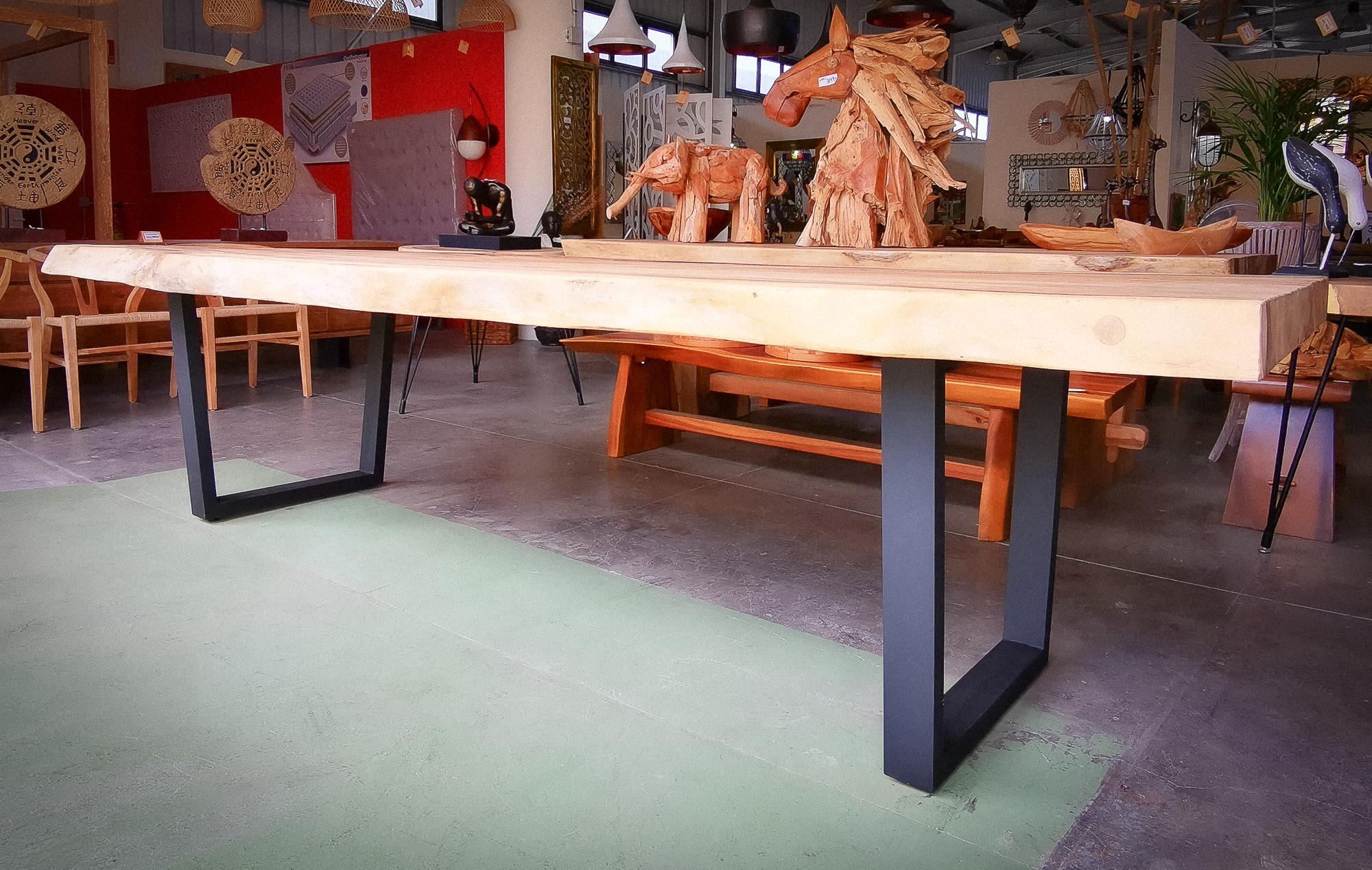 Mesas de suar de 3 metros con pata U