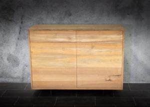 Aparador de madera de teca natural 2 cajones y 2 puertas