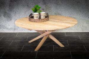 Mesa café redonda de teca natural