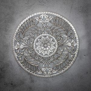 Mandala decorativo redondo flor de loto