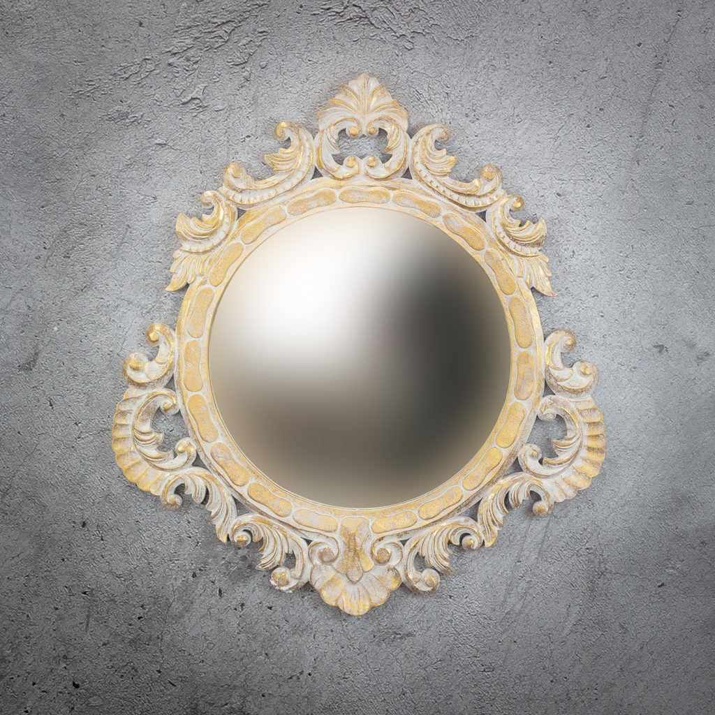 Espejo de pared decorativo Round Seming de 80cm AG de 80x80cm. Rococó