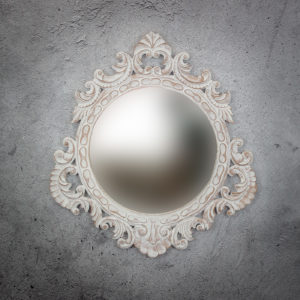 Espejo de pared decorativo Round Seming de 80cm AWS de 80x80cm. Rococó