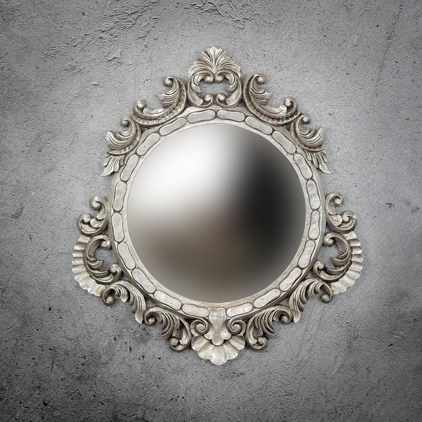 Espejo de pared decorativo Round Seming de 80cm SL de 80x80cm. Rococó