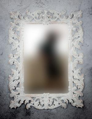 Espejo de pared decorativo Made Bara de 120x90cm AWS de 90x120cm. Rococó