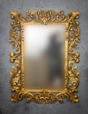 Espejo de pared decorativo Made Bara de 120x90cm G de 90x120cm. Rococó