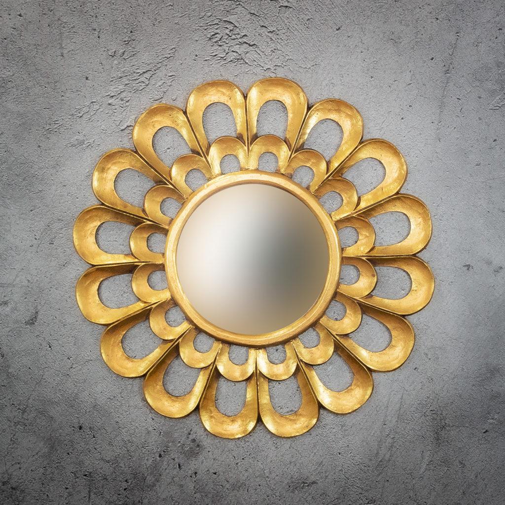 Espejo de pared decorativo Round Mabeled de 80cm G de 80x80cm. Rococó