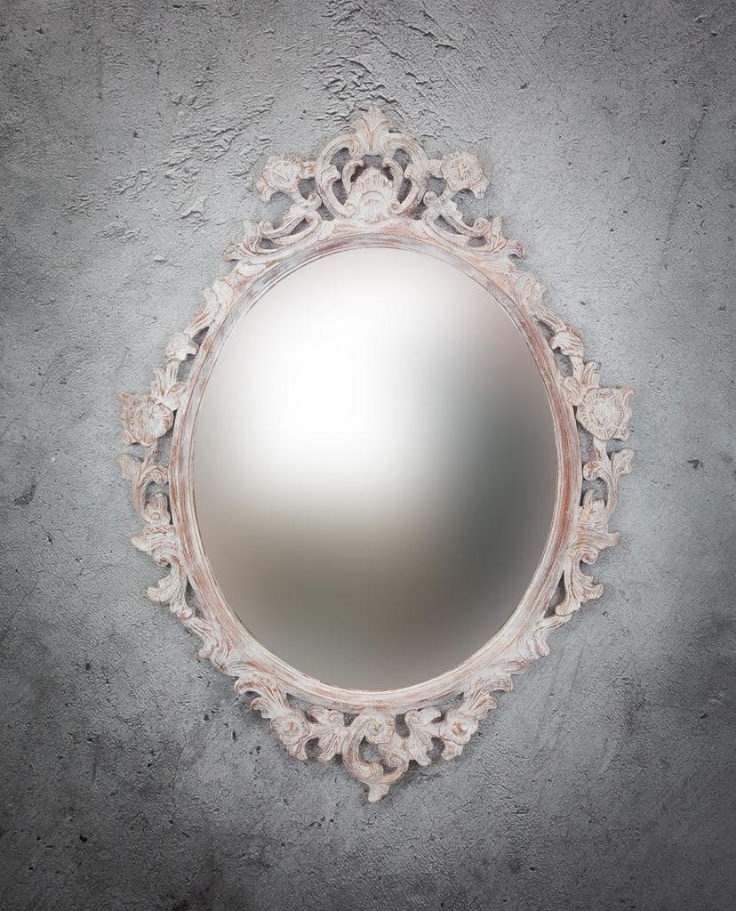 Espejo de pared decorativo Anggur Ovaled de 100x80cm AWS de 80x100cm. Rococó