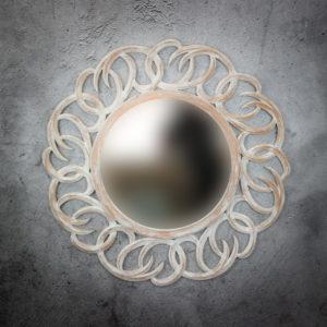 Espejo de pared decorativo Tulasi Circle de 100cm AWS de 100x100cm. Rococó