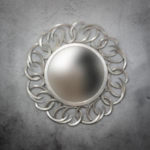 Espejo de pared decorativo Tulasi Circle de 100cm SL de 100x100cm. Rococó