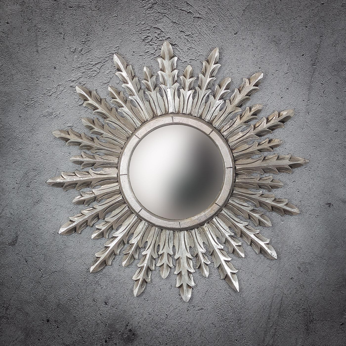Espejo de pared decorativo Urban Surya de 80cm SL de 80x80cm. Rococó
