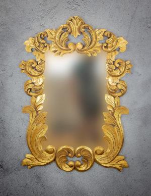 Espejo de pared decorativo Coffe Town de 130x90cm G de 90x130cm. Rococó