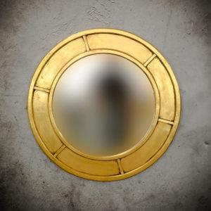 Espejo decorativo Round Parlo de 100x100cm en Oro (envejecido)