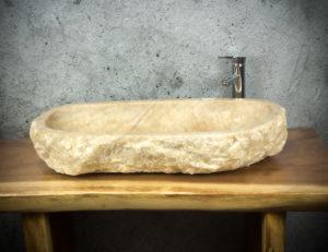 Lavabo de ónyx de 83x41x15cm
