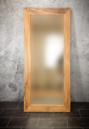 Espejo grande de madera de teca reciclada Smooth Line de 200x90 cm