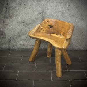 Banco de tronco de teca reciclada 80x40x45 cm