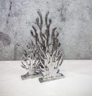 Set de coral de madera en plata
