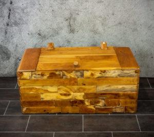 Baúl de madera de Teca reciclada de 110x56x50cm. MiRococo