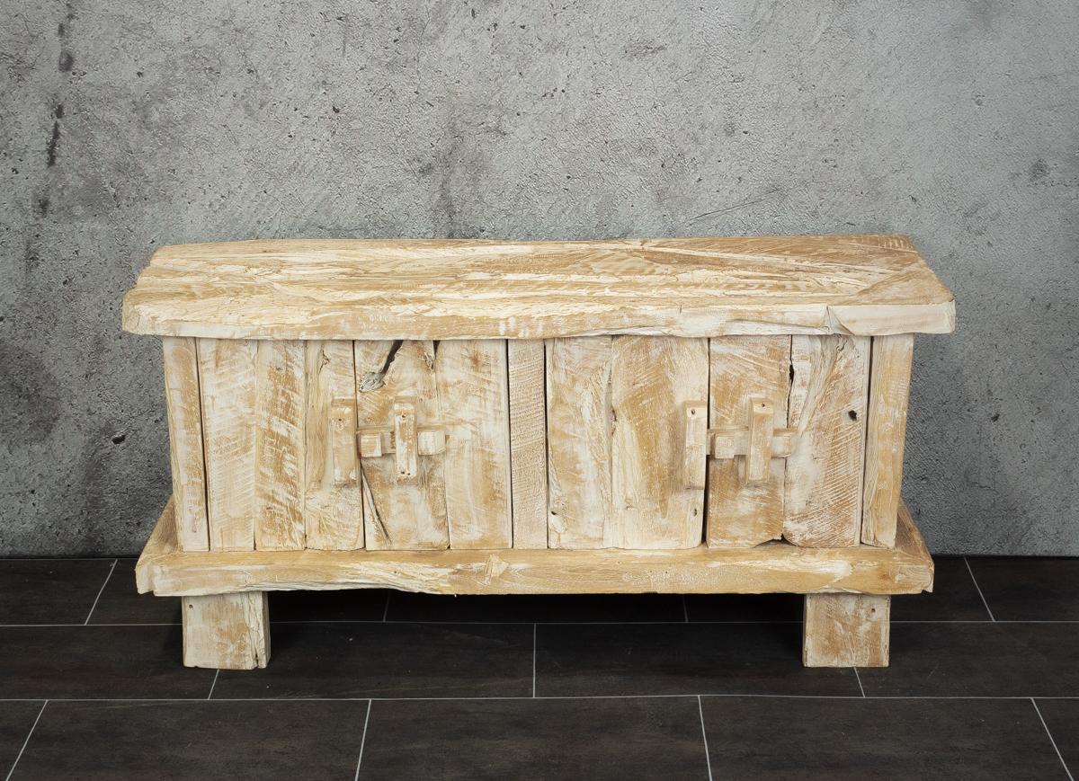 Mueble TV rústico de madera de Teca reciclada de 120x40x60cm. MiRococo