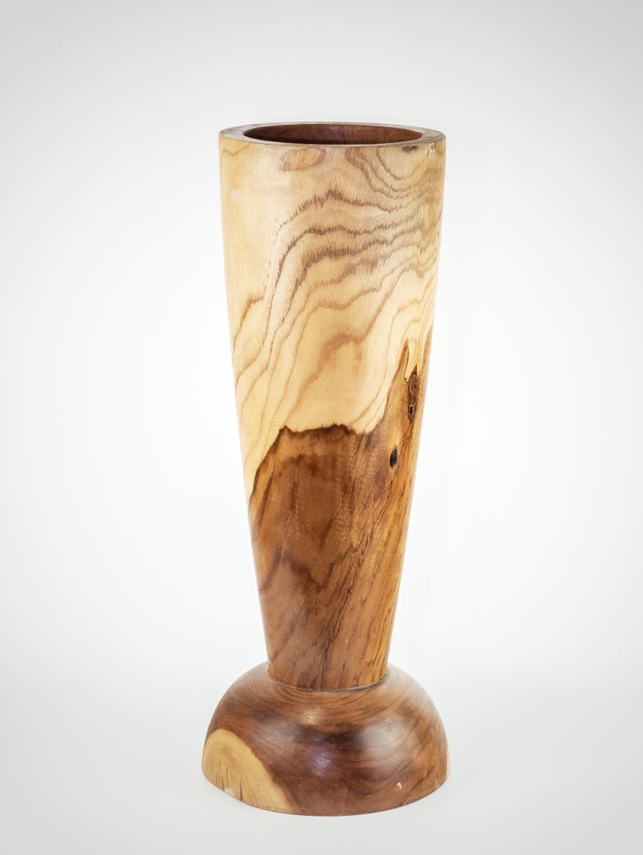 Jarrón/paragüero de madera de Teca de 60x25cm aprox.. MiRococo