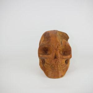 Calavera artesanal de madera de Teca. MiRococo
