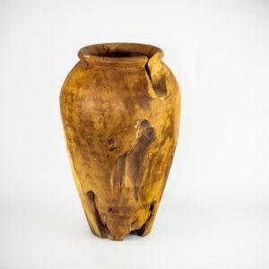 Ánforas de madera de Teca reciclada de 45x30cm aprox