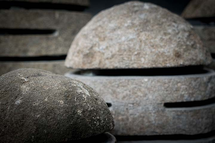 Lámpara decorativa figura de piedra exterior