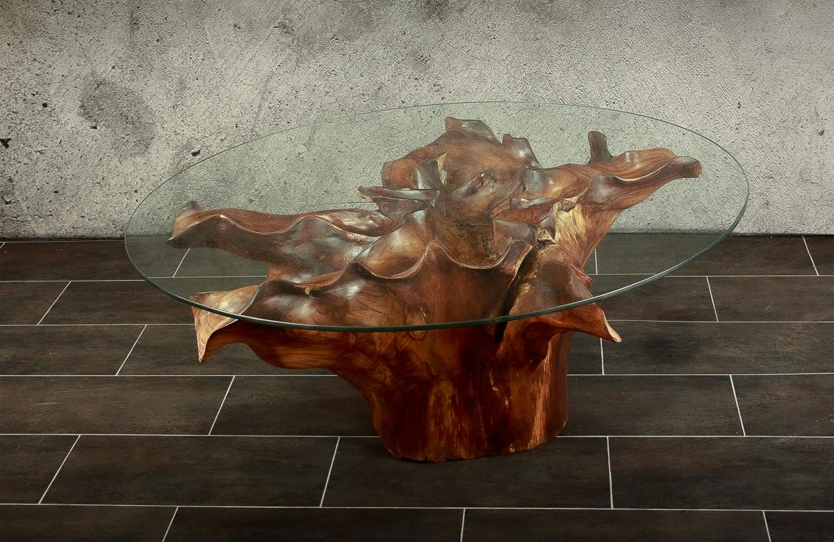 Mesa redonda café de madera de Sono de 100cm