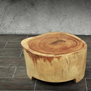Mesa baja café de madera de Suar 70x68cm