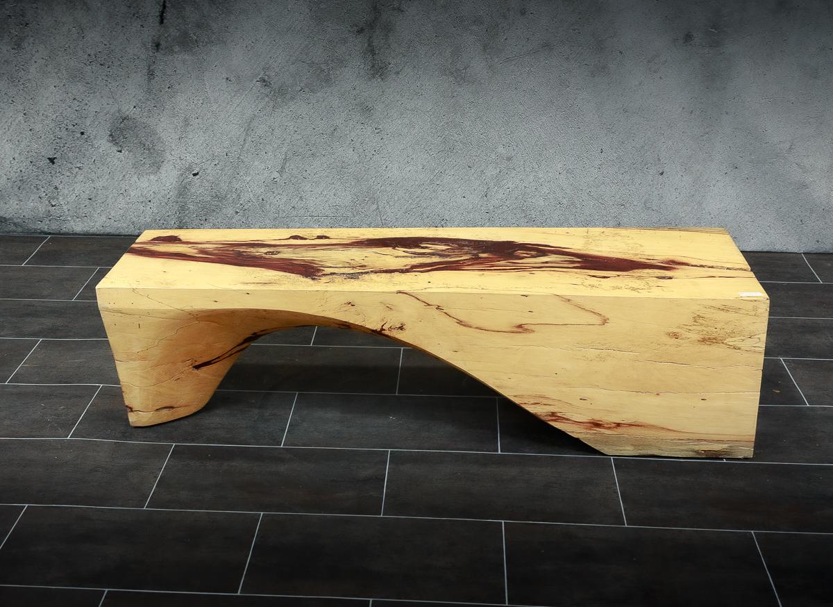 Banco / Mesa café de tamarindo rústico de 143x40x38