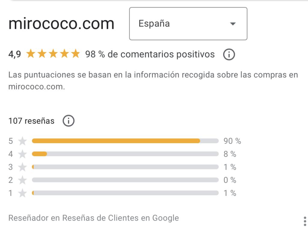 Reseña de compras verificadas por Google