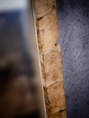 Espejo rústico de madera de Teca de 70x100cm aprox.