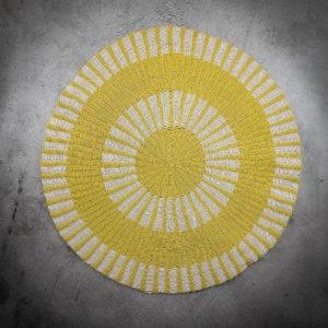 Alfombra de 150cms círculos amarillos