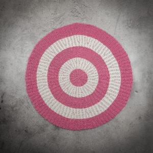 Alfombra redonda rosa