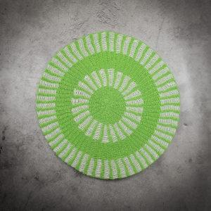 Alfombra redonda verde
