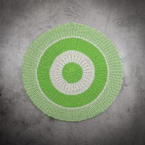 Alfombre redondo verde circulos